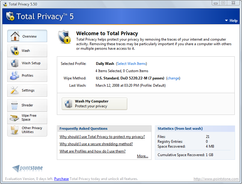 Pointstone Total Privacy 5.88d